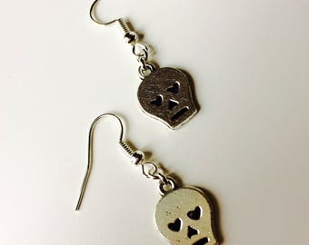 Sugar Skull | Candy Skull | Horror | Heart | Halloween | Emo | Gothic | Earrings