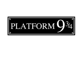 Harry Potter Platform 9 3/4 Vinyl Door / Wall Decal