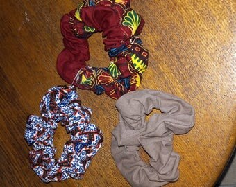 Elastic scrunchie handmade in cotton fabric