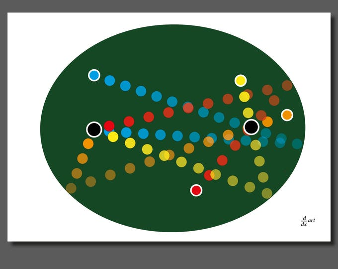 Elliptical pool 01 [mathematical abstract art print, unframed] A4/A3 sizes