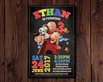 Snoopy Invitation , Snoopy Birthday Invitation , Snoopy Birthday , Snoopy Invite , Snoopy Printable , Snoopy Party , Snoopy Card , Peanuts