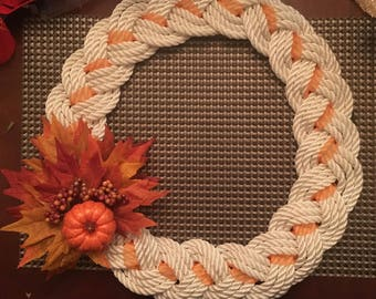Nautical rope wreaths
