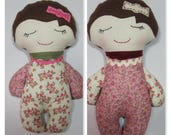 Darling Classic Doll Variations - Girls // Cloth Doll // birthday gift // Christmas gift // stuffed doll //  calico baby doll