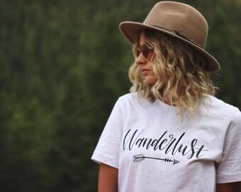 Wanderlust Shirt - Wanderlust - Travel Shirt - Adventure Shirt - Hiking Shirt - Travel - Camping Shirt - Not All Who Wander - Gift For Her