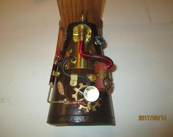 Steampunk leather arm cannon