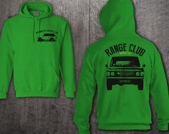 Range Rover hoodie, Front & Back Printed Jeep Life hoodies, Land Rover hoodies, Unisex hoodies, rover sweater,Vintage Range rover t shirts