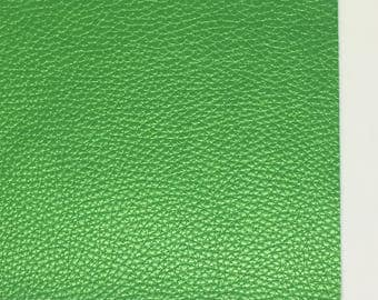 Green Pearlescent Textured Faux Leather