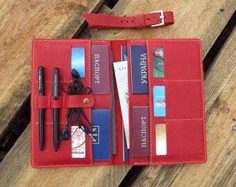 Travel wallet etsy for Family travel document organizer