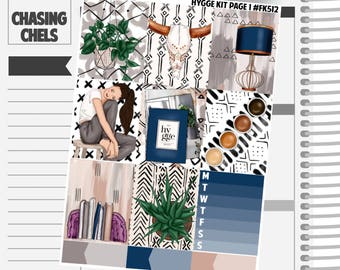 Hygge Collection #FK512-518 Premium Matte Planner Stickers