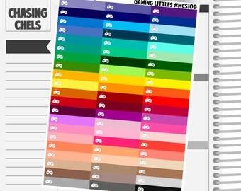 Gaming Littles Headers #MCS109 Premium Matte Planner Stickers