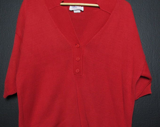 Avon Fashionista vintage red sweater