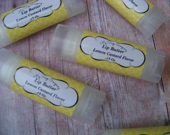LEMON CUSTARD Lip Butter, Lip Balm, chapstick, Natural Lip Balm, Organic Lip Balm, Flavored Lip Balm, Spa Party, Luxury Lip Balm, best lip