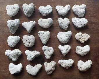 25 Puffy Heart Stones