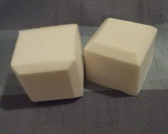 Lemongrass Cube Shaped Scented Soap, Set of 2 Soaps, 7 ounces of Soap, Goat's Milk Soap