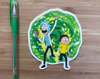 Rick and Morty Vinyl Sticker, Rick Sanchez, Rick and Morty Art Print, Robot Chicken, Rick and Morty Poster, Funny Vinyl Sticker, Adult Swim