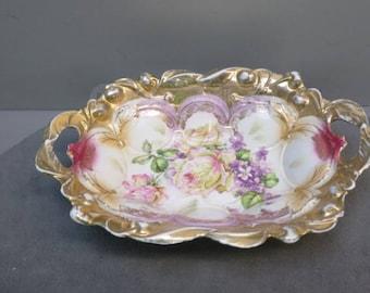 2 German Floral Bowls