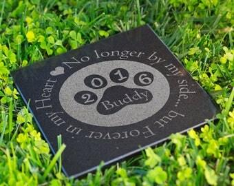 Dog Memorial Stone Personalized Grave Stone Laser Engraved Pet Memorial Garden Plaque Custom Engraved Cat Memorial Dog Grave Markers #SGP5