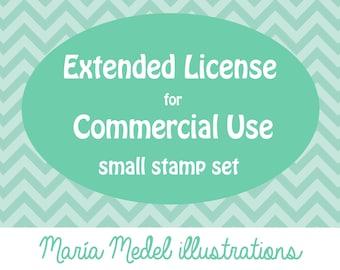 Licencia extendida para el uso comercial - sistema de sello (hasta 15 estampillas)