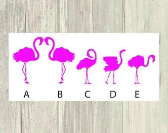 Flamingo Family Car Decal/Sticker