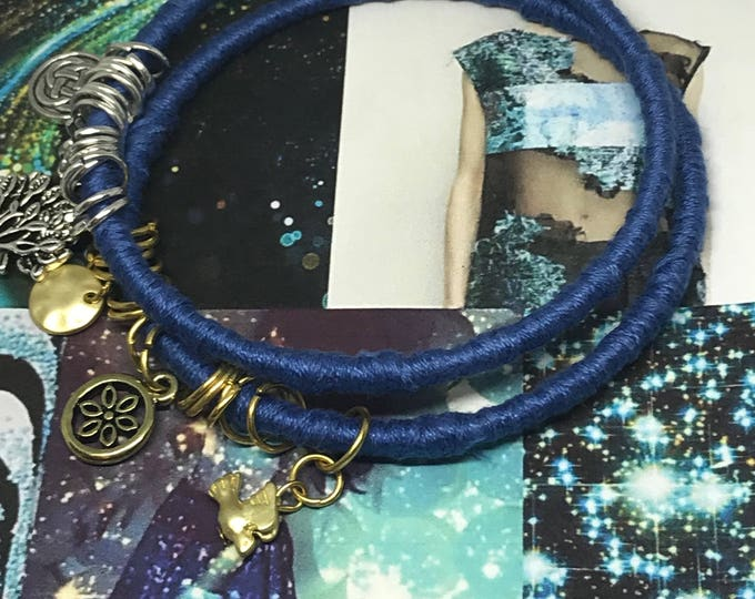 Featured listing image: Blue Fall Sky  Beads and Bangle Sets