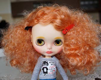 Custom Neo factory Blythe doll with Pure Neemo Body, ooak, cce - curly hair
