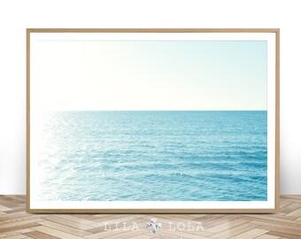 Beach Wall Art, Ocean Photography, Modern Beach Print, Printable Digital Download, Large Poster, Beach Photography, Printable Ocean Poster