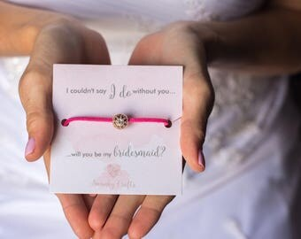 Maid of honor bracelets - will you be my maid of honor - maid of honor gifts - I couldnt say I do without you - gifts under 10