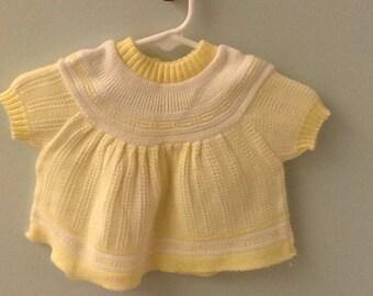 Newborn? Yellow Knit Sweater Top