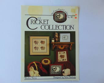 Woolen Sheep Cross Stitch The Cricket Collection Leaflet