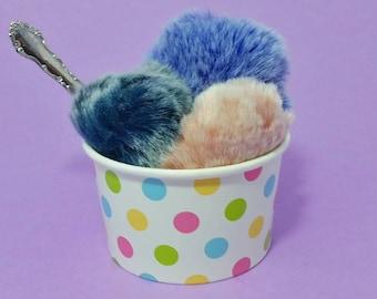 Pom Pom hair tie - Pom Pom - hair tie - elastic hair tie - Pom Pom hair accessorie