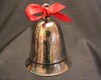 "Kirk Stieff 1990 Silver Plated  Musical Bell: ""Have Yourself a Merry Little Christmas"""