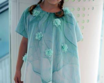 Loose printed dress tunic, Summer girls dress, Sundress, Flower toddler dress, Summer outfit