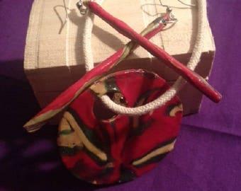 SUGAR CANE - polymer clay jewelry set