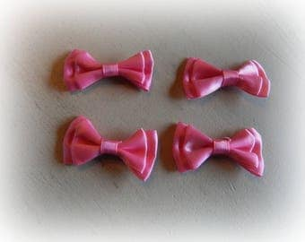 4 nodes satin Fuchsia color 4.5 * 2 cm