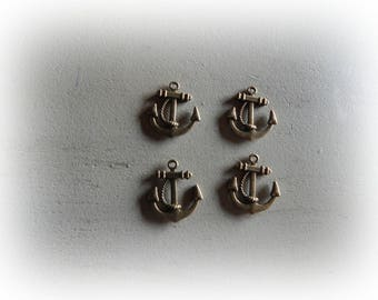 4 ink boat 23 * 18 mm bronze metal charms