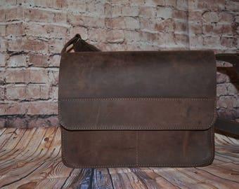 Leather Bag, Leather Briefcase, Leather Shoulder Bag,  Shoulder Bag, Leather Satchel