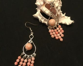 Pink Coral Earrings, Earrings, Pink Earrings, Coral Earrings
