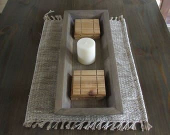 Wood table tray - centerpiece - table centerpiece - coaster set