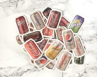 Set of 40 Mini Coke stickers - Coca Stickers - Soda Stickers