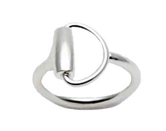 """Equestrian ring """"Half of the horse bit"""""""