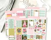 Garden Party Vertical Planner Sticker Kit - 6 Page Sticker Kit - Wedding Party kit, Spring, Summer, Birthday Party Sticker Kit GPKV