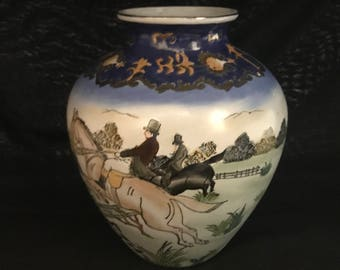 Chinese Export Vase with Hunt Scene.  9''  (CGP-0792)