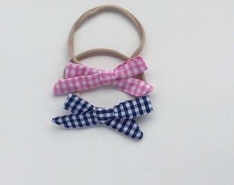 Nylon hair bow, School girl bow, baby hair bows, baby gift, baby girl, toddler hair bow, bows, baby accessories, baby girl gift, hair bow