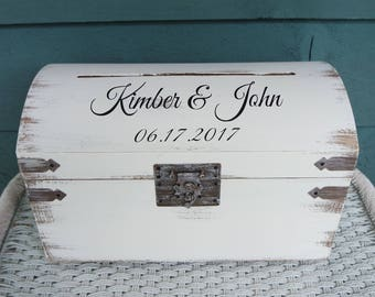 Keepsake Box, Memory Box, Wedding Box, Wedding Trunk, Card Box for Wedding, Card Box, Spring Wedding Box, Rustic Card Box, Card Trunk