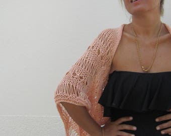 Orange Cotton Shrug/ Boleros, summer fashion