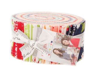 PREORDER The Good Life Jelly Roll - Moda Quilt Fabric - Bonnie & Camille - 40 pieces