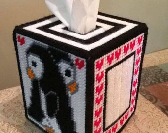 Penguin Tissue Box Cover