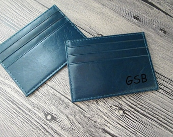 Personalized Leather Card Sleeve,leather card holder,Front Pocket Wallet,Slim Leather card wallet case,minimalist wallet,groomsmen gift