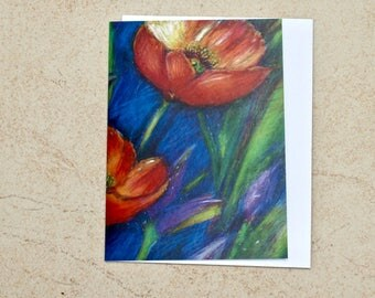 Giant Poppies Greeting Card