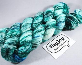Hand Dyed Sock Yarn Superwash Merino - Merman